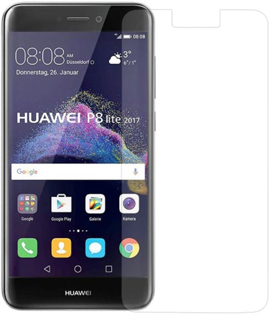 Shop4 - Huawei P8 Lite (2017) Glazen Screenprotector -  Gehard Glas Transparant in Braamberg