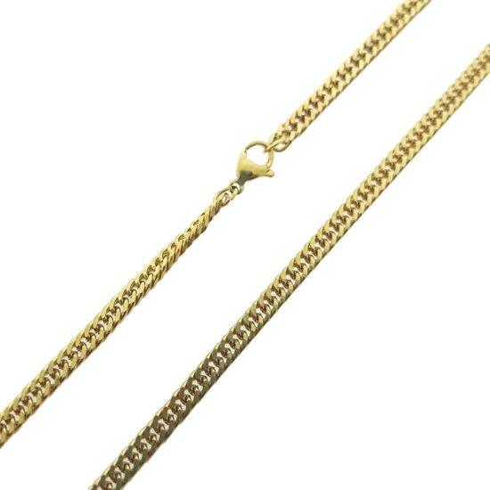 Top bol.com | Dichte gourmet ketting-65 cm-4 mm-staal-goud-heren-dames @MI27