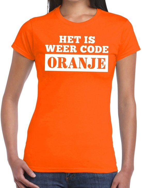 Oranje Code Oranje shirt dames XL