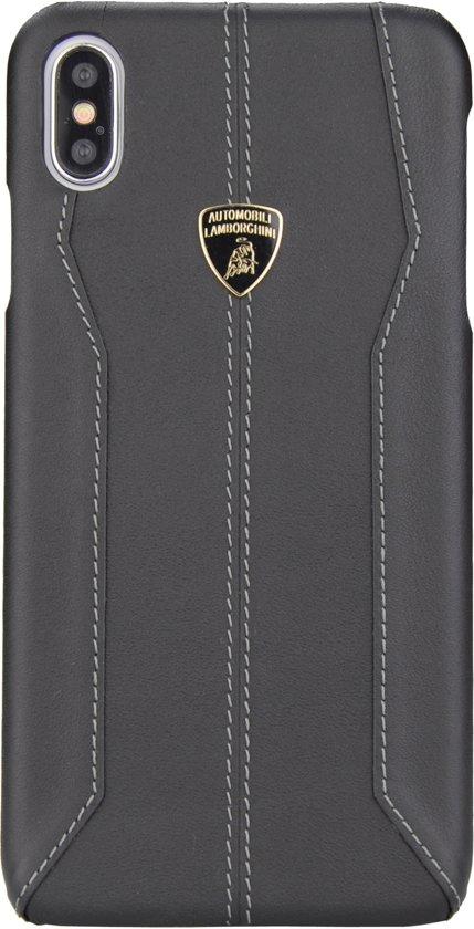 Lamborghini backcover hoesje D1 Serie Huawei Huawei P30 Pro Zwart - Genuine Leather - Echt leer