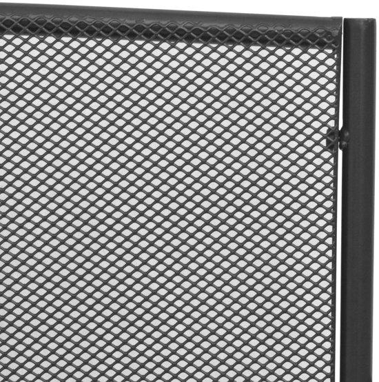 vidaXL Tuinbank 108 cm staal en mesh antraciet
