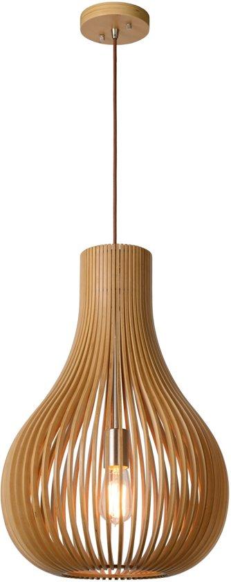 bol | lucide bodo - hanglamp - Ø 38 cm - e27 - licht hout