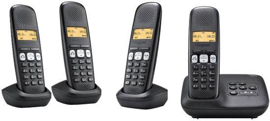 Gigaset A250A - Quattro DECT telefoon met antwoordapparaat - Zwart