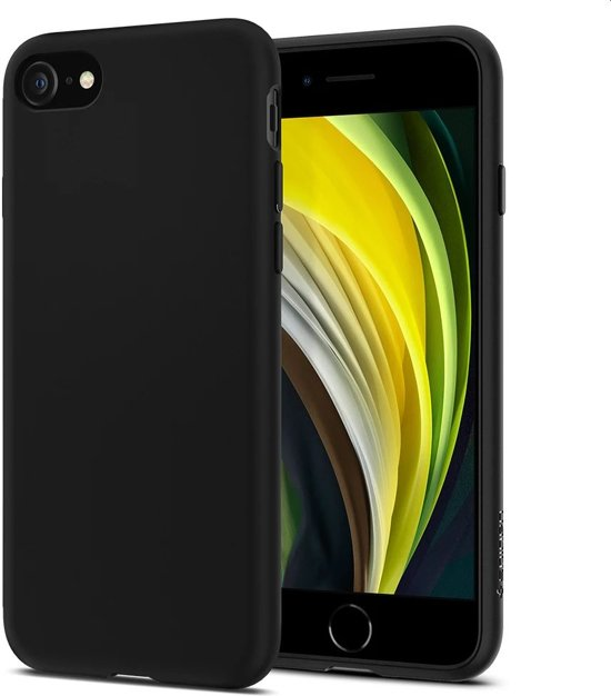 Spigen iPhone 8/7 Liquid Crystal Matt Bl