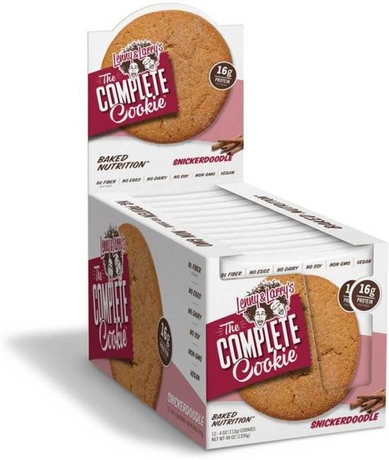 Lenny & Larry's The Complete Cookie - All Natural Vegan Protein Cookie - Snickerdoodle