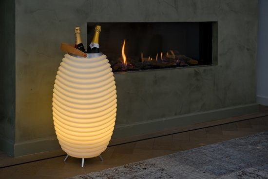Wijnkoeler Met Licht : Bol wijnkoeler met bluetooth speaker en led lamp s large