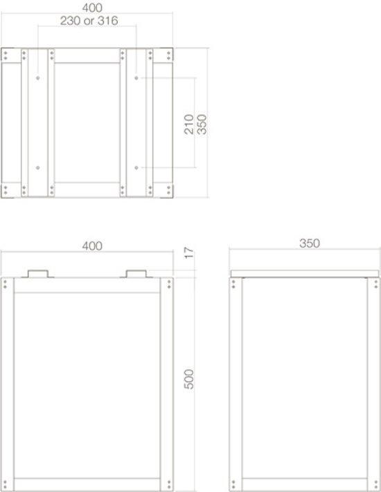 Intersteel - Pakket postkast - grondmontageset - RVS- 0098.960025