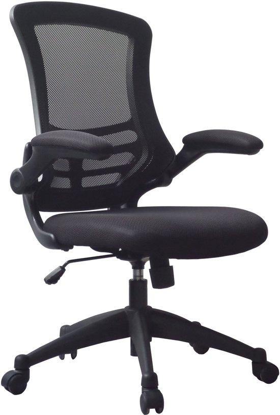 Verstelbare Bureaustoel Zwart.Bol Com Piranha Luna Bureaustoel Mesh Zwart In Hoogte