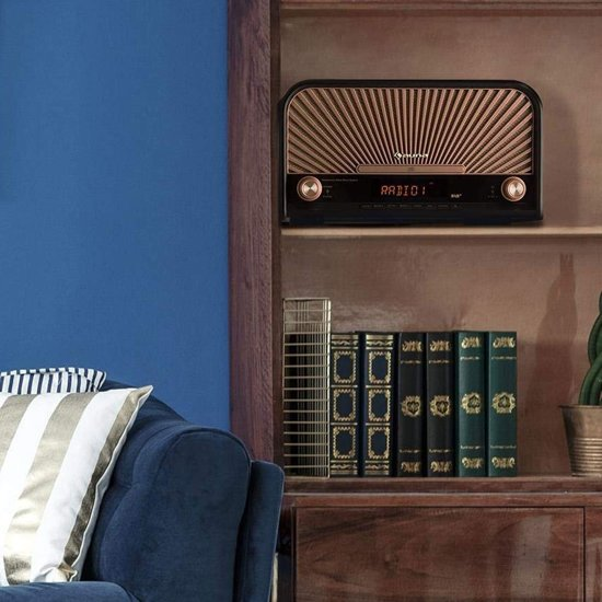 Auna Glastonbury Retro Radio & CD Speler DAB+