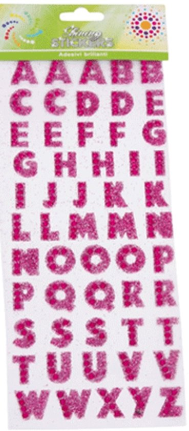 large letter stickers bol letter stickers met glitters 22687