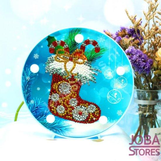 "Diamond Painting ""JobaStores®"" Lamp Kerst 03 Sok"
