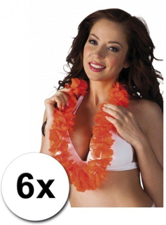 6 oranje Hawaii slingers