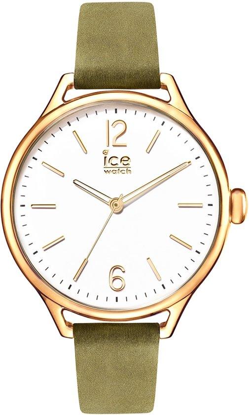 ice Watch Time IW013058 - Horloge - Leer - Groen - 38 mm