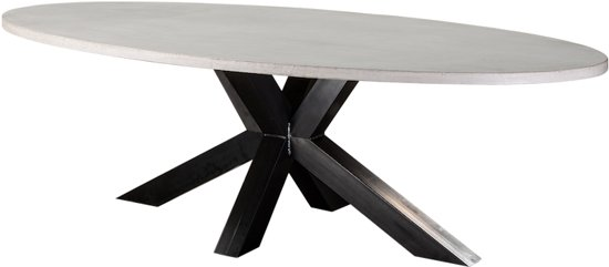 Ronde Betonnen Tafel.Table Du Sud Beton Ovale Tafel Xx Poot 220x110