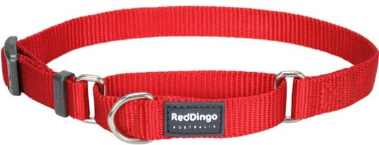 Red Dingo Martingale Correctie Halsband Hond 15mm 25-39cm MC-ZZ-RE-15