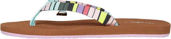 O'neill Slippers Fw Woven Strap - Green Aop W/ Pink Or Purple 37