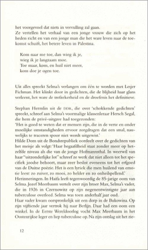 Bolcom Tussen Weemoed En Verlangen Selma Meerbaum