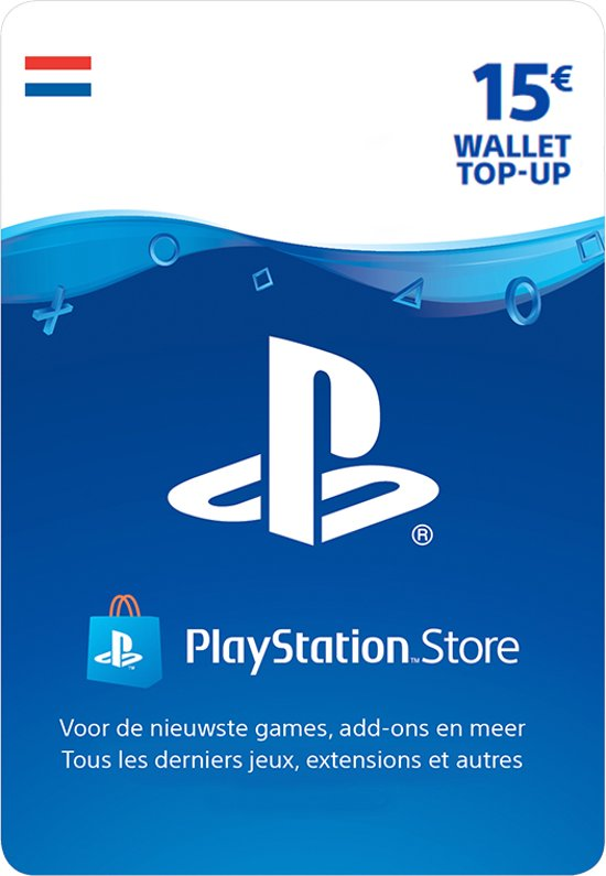 15 euro PlayStation Store tegoed - PSN Playstation Network Kaart (NL)