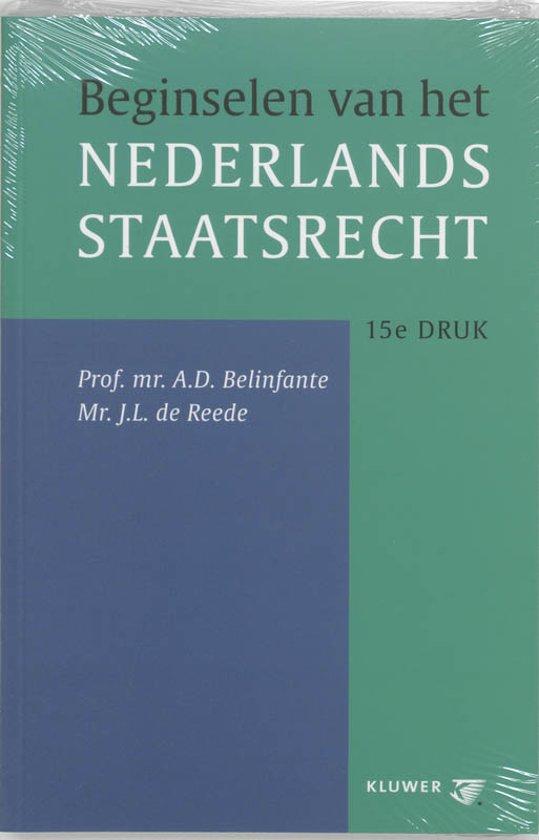 Boek cover Beginselen Van Het Nederlands Staatsrecht van A.D. Belinfante (Onbekend)