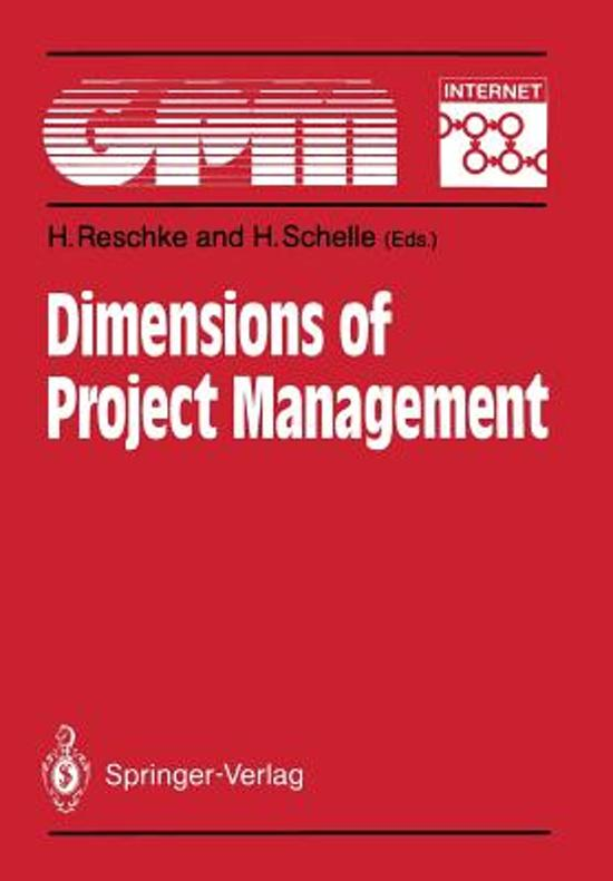 Dimensions of Project Management