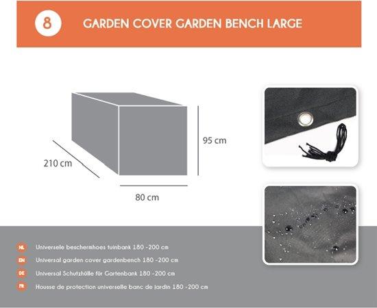 MaximaVida tuinbank Budapest zwart 170 cm- exclusief mahoniehout-