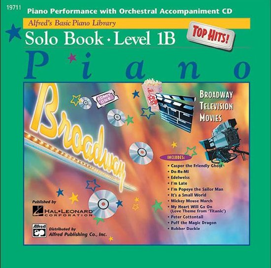 Alfred's Basic Piano Library Top Hits Solo 1B CD