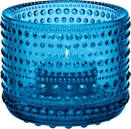 Iittala Kastehelmi - Waxinelichtjeshouder - Sfeerlicht - h 6.4 cm - Turqoise