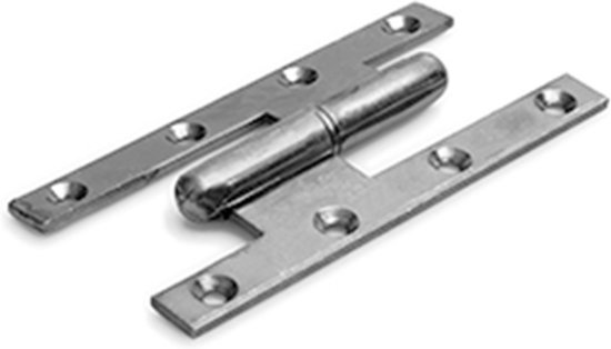 paumelle 140 x 70 mm verzinkt staal rechtsdraaiend 2