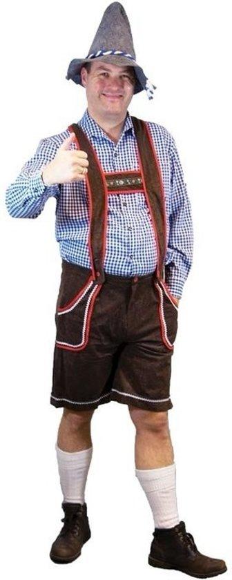 Oktoberfest Voordelige bruine lederhosen 50 (m)