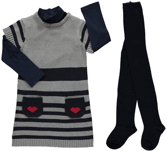 Losan meisjeskleding - Set (3delig) donkerblauw - Maat 98