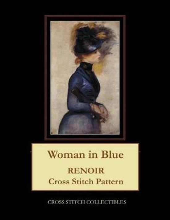 Woman in Blue: Renoir Cross Stitch Pattern