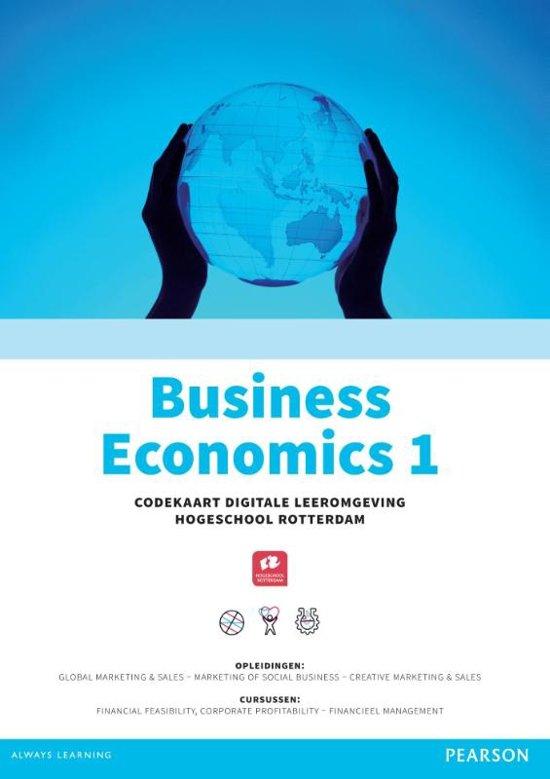 Custom Business economics 1 codekaart Digitale Leeromgeving Hogeschool Rotterdam