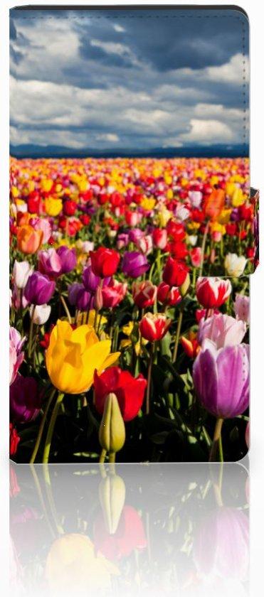 Sony Xperia C4 Uniek Hoesje met Opbergvakjes Tulpen in Sint-Amands