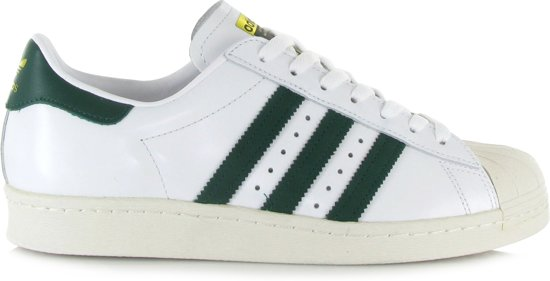 adidas superstar groene strepen
