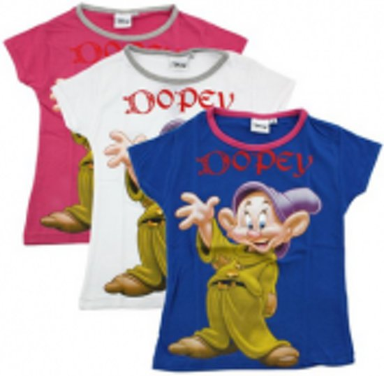 Disney Dopey t-shirt blauw maat 128 - 1 stuks