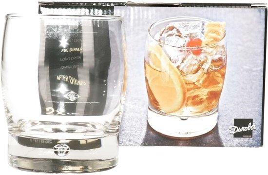 4x Luxe cocktailglazen/drinkglazen - 350 ml - 2-delig - cocktailglas