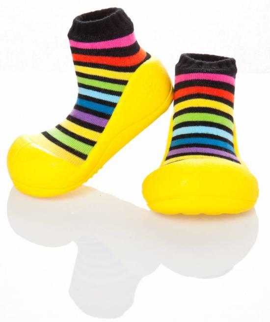 Attipas babyschoentjes Rainbow Geel Maat: 25,5 (15,5 cm)
