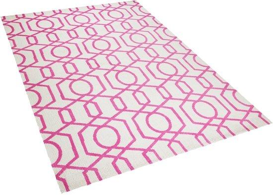 Beliani LAMIA - Vloerkleed - Beige - Polyester