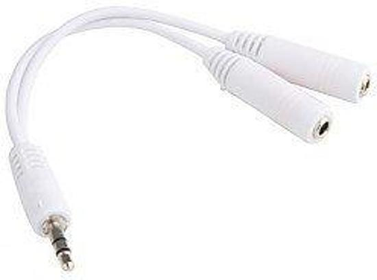 Audio splitter - Hoofdtelefoon splitter-koptelefoon splitter- 3.5mm -Wit