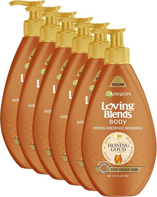 Garnier Loving Blends Body Honinggoud - 6 x 250ml - Bodymilk - Voordeelverpakking