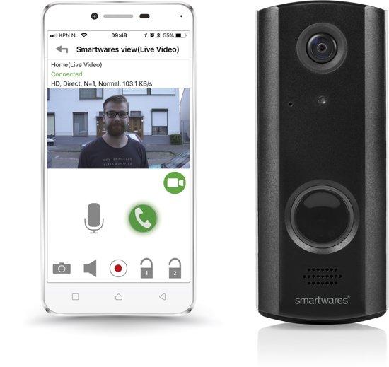 Deurbel Voor Iphone.Smartwares Dic 23216 Wi Fi Deurbel Draadloos 720p Hd Wifi Gratis Cloud Opslag