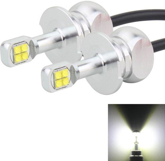2 STKS H3 40 W 800 LM 6000 K 8 CREE LEDs Auto Mistlampen, DC 12 V (Wit Licht)