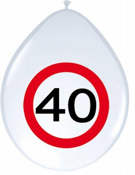 40 jaar verkeersbord bol.  Ballonnen 40 jaar verkeersbord, Folat   Speelgoed 40 jaar verkeersbord