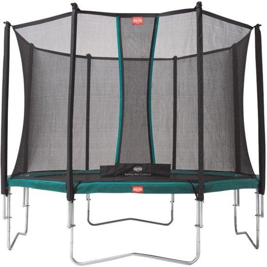 Berg Trampoline Favorit Met Safety Net Comfort 380 Cm Groen