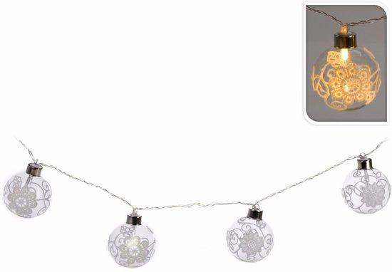 bol.com | Kerstversiering kerstballen slinger met LED verlichting op ...