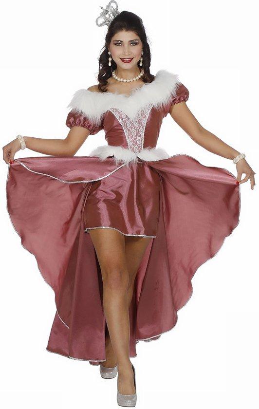 IJsprinses jurk oud roze voor dame maat 52