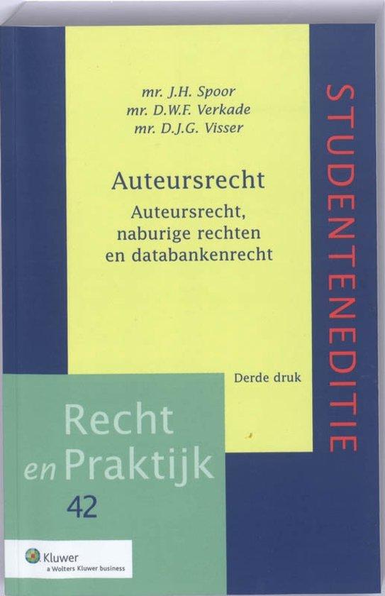 Boek cover Auteursrecht Studenteneditie van J.H. Spoor (Paperback)
