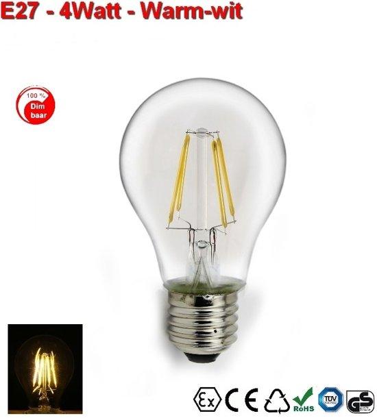 E27 Gloeispiraal design LED 4w Warmwit Dimbaar