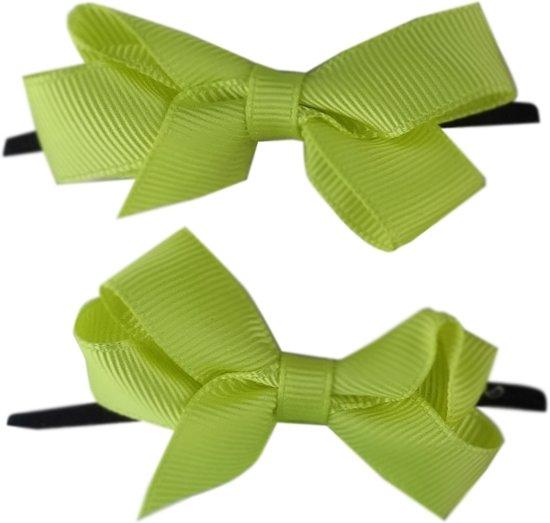 Jessidress Mini Haar Elastiekjes met kleine Haar Strikjes  - Geel