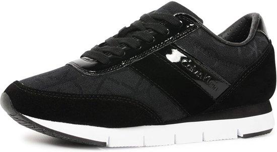 46de9667c40fb8 Calvin Klein Jeans Tea suède sneakers - Zwart- Damesschoenen - Maat: 36